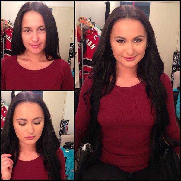 Atrizes porno antes e depois da maquiagem (12)