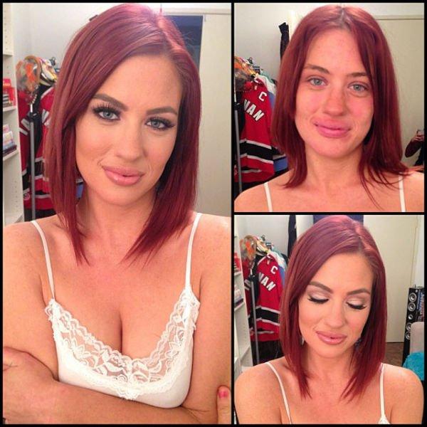 Atrizes porno antes e depois da maquiagem (13)