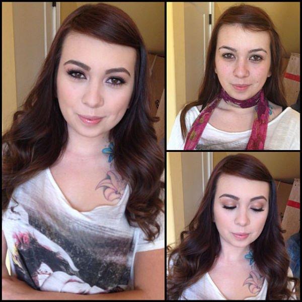 Atrizes porno antes e depois da maquiagem (17)