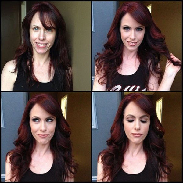 Atrizes porno antes e depois da maquiagem (18)