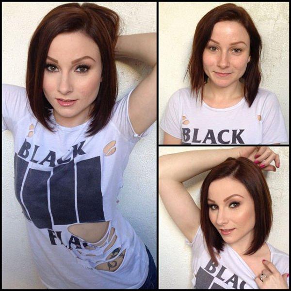 Atrizes porno antes e depois da maquiagem (2)
