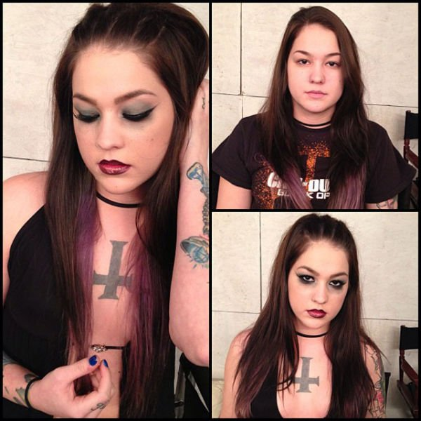 Atrizes porno antes e depois da maquiagem (24)