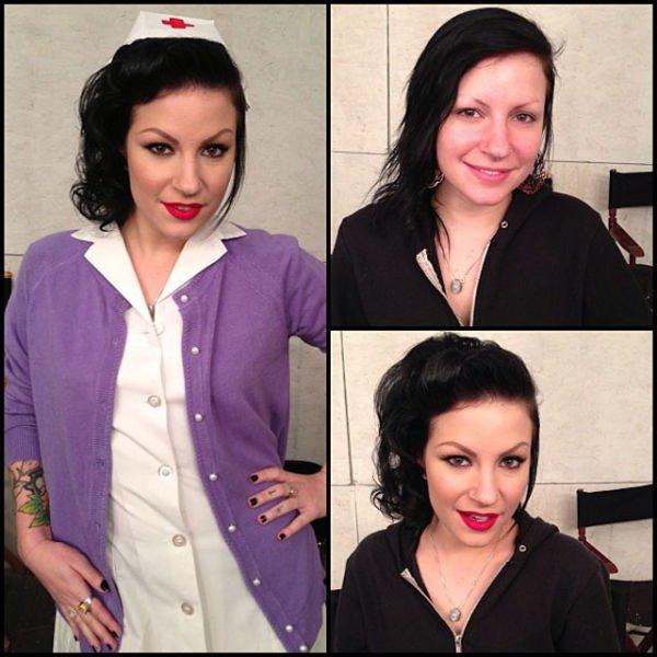 Atrizes porno antes e depois da maquiagem (26)