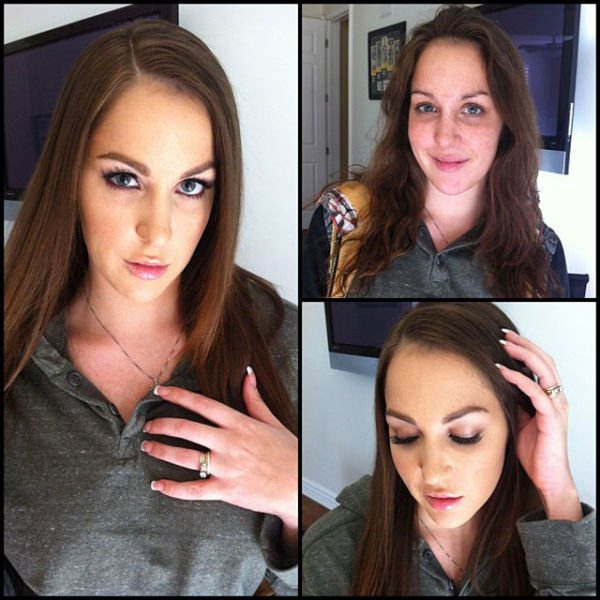 Atrizes porno antes e depois da maquiagem (29)