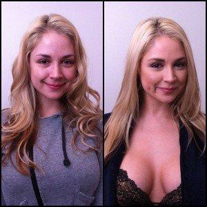 Atrizes pornô antes e depois da maquiagem