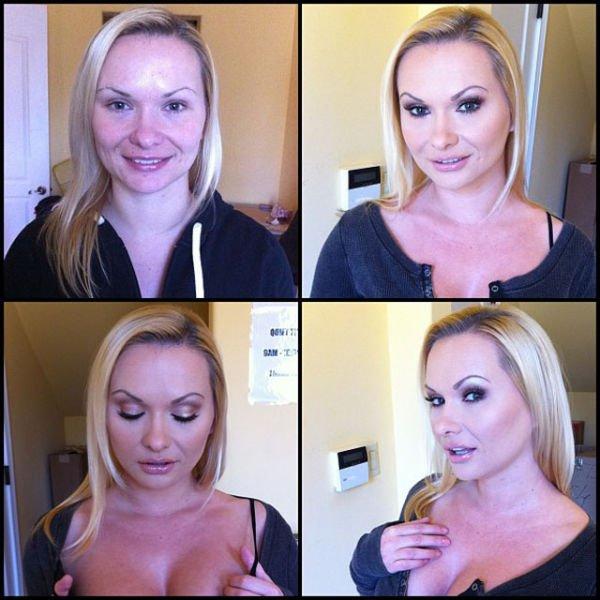 Atrizes porno antes e depois da maquiagem (36)