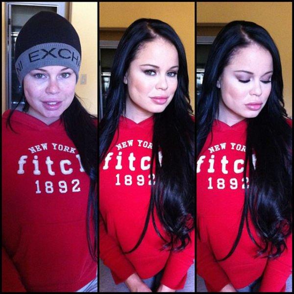 Atrizes porno antes e depois da maquiagem (37)