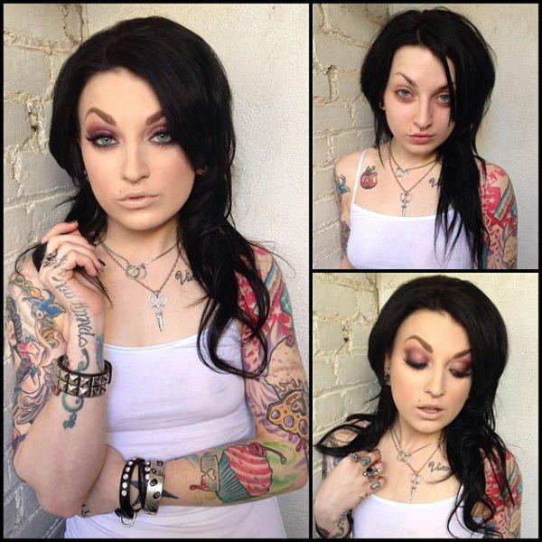 Atrizes porno antes e depois da maquiagem (4)