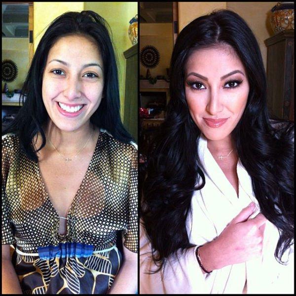 Atrizes porno antes e depois da maquiagem (40)