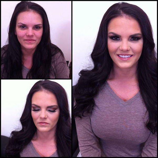 Atrizes porno antes e depois da maquiagem (43)