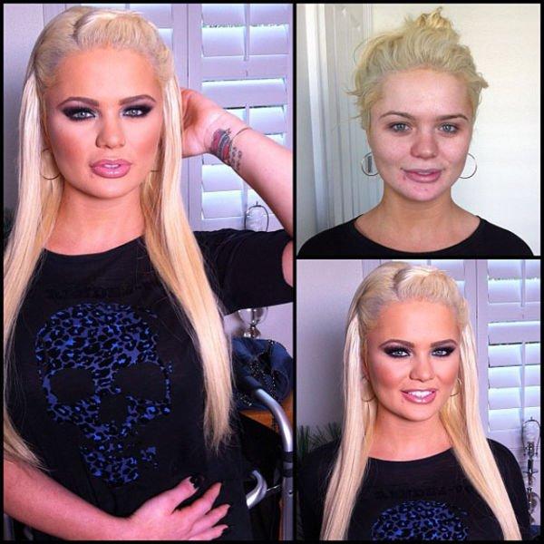 Atrizes porno antes e depois da maquiagem (44)