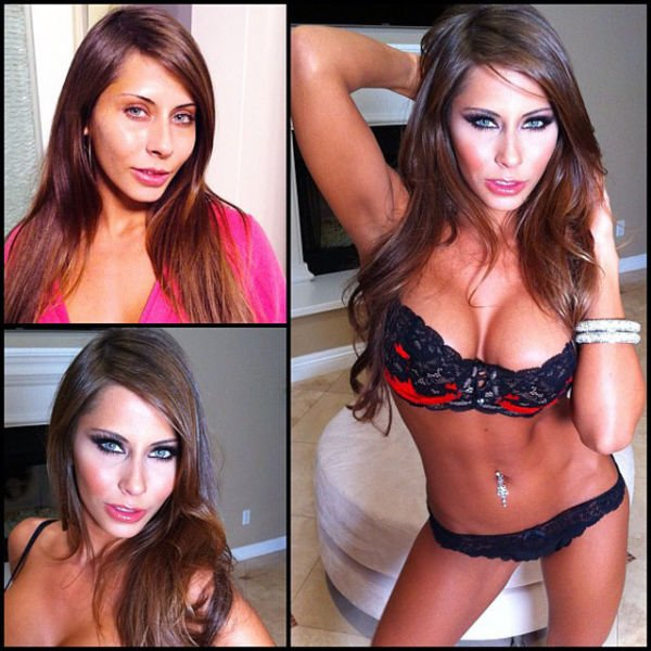 Atrizes porno antes e depois da maquiagem (45)
