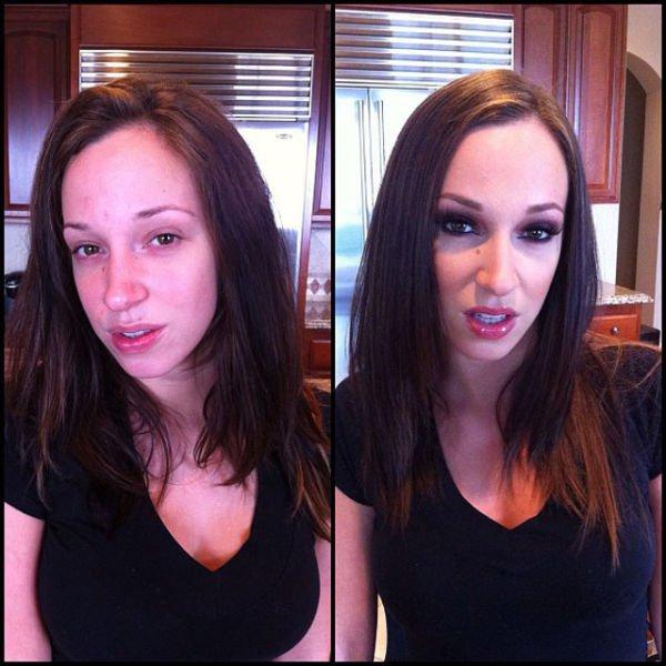 Atrizes porno antes e depois da maquiagem (46)