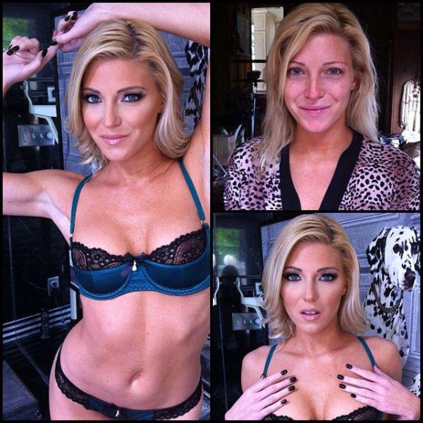 Atrizes porno antes e depois da maquiagem (49)