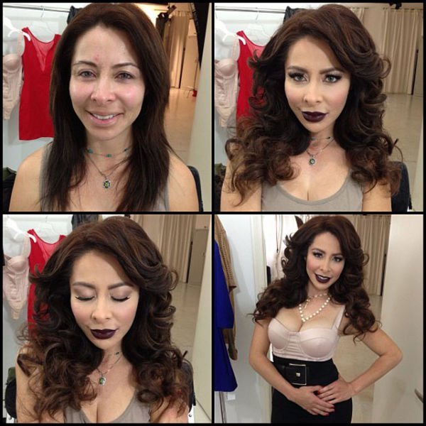 Atrizes porno antes e depois da maquiagem (5)