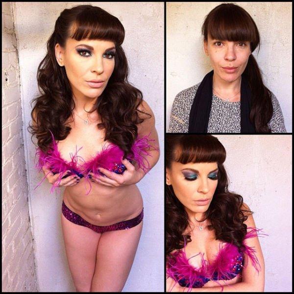 Atrizes porno antes e depois da maquiagem (54)