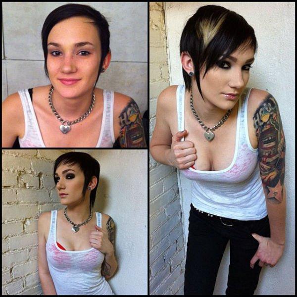 Atrizes porno antes e depois da maquiagem (55)