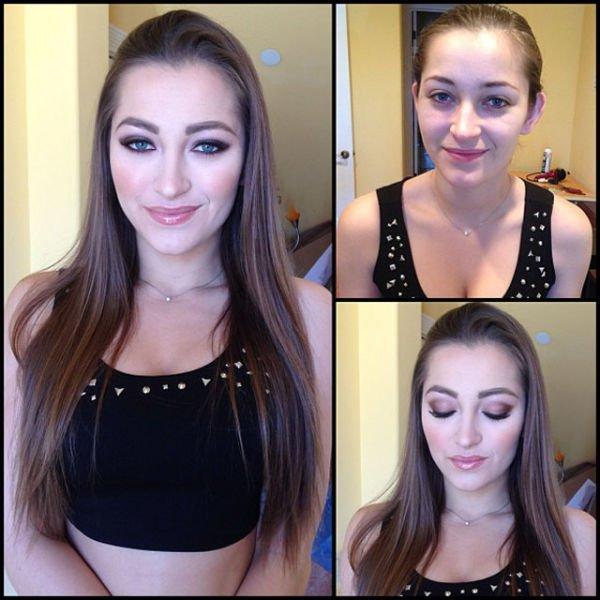 Atrizes porno antes e depois da maquiagem (6)