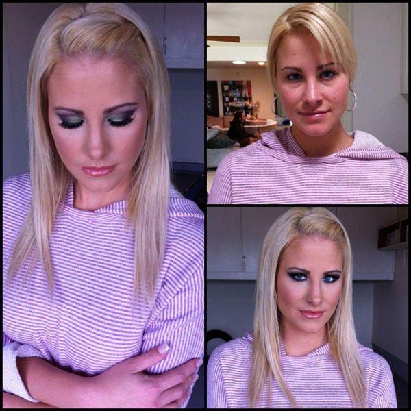 Atrizes porno antes e depois da maquiagem (61)