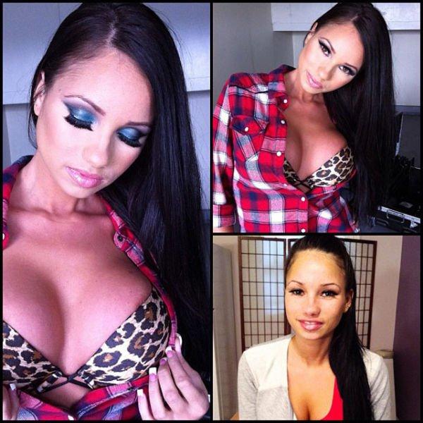 Atrizes porno antes e depois da maquiagem (62)