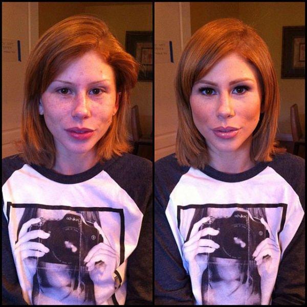 Atrizes porno antes e depois da maquiagem (63)