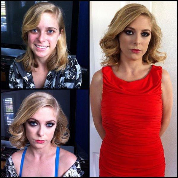 Atrizes porno antes e depois da maquiagem (65)