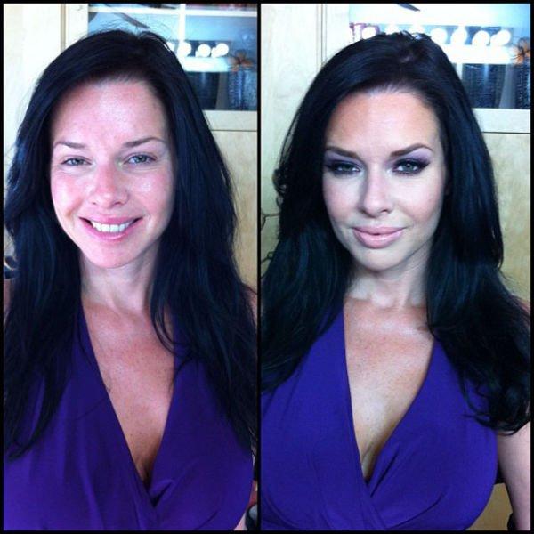 Atrizes porno antes e depois da maquiagem (66)