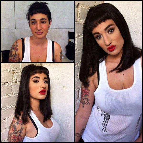 Atrizes porno antes e depois da maquiagem (69)