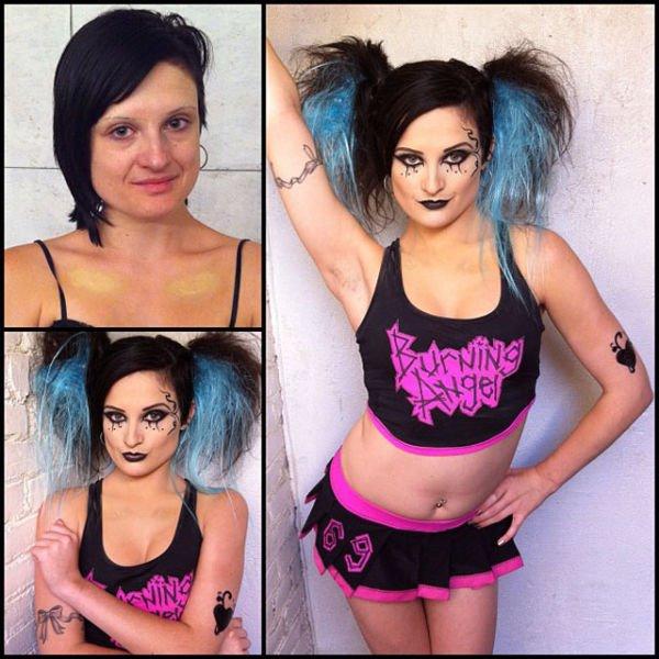 Atrizes porno antes e depois da maquiagem (70)