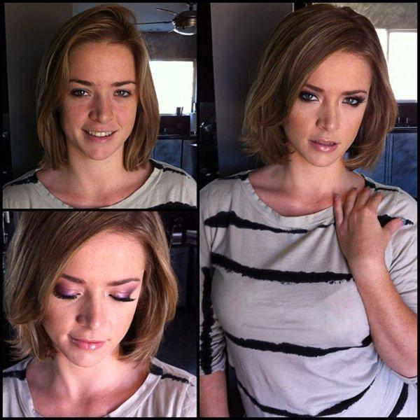 Atrizes porno antes e depois da maquiagem (72)
