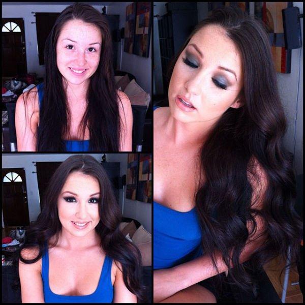 Atrizes porno antes e depois da maquiagem (73)