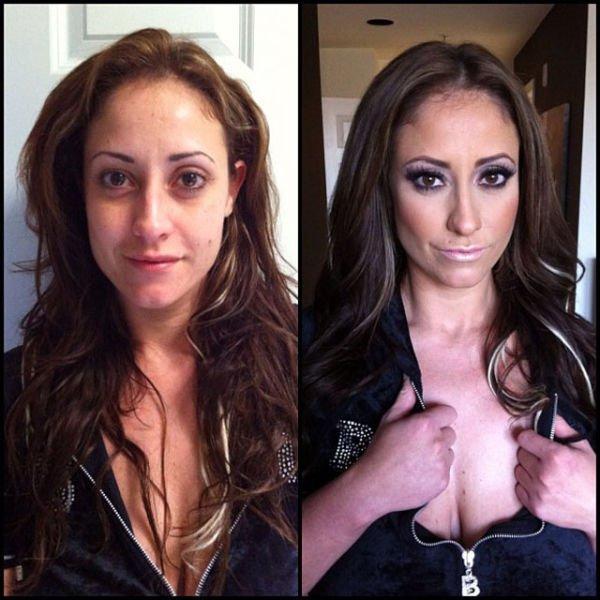Atrizes porno antes e depois da maquiagem (74)