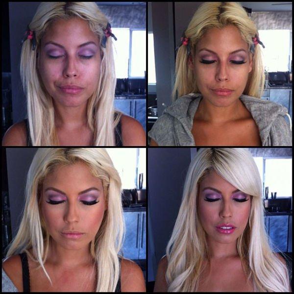 Atrizes porno antes e depois da maquiagem (78)