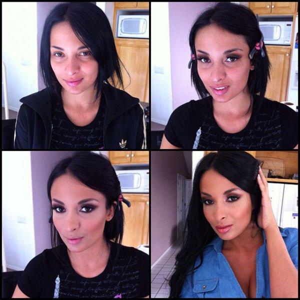 Atrizes porno antes e depois da maquiagem (79)
