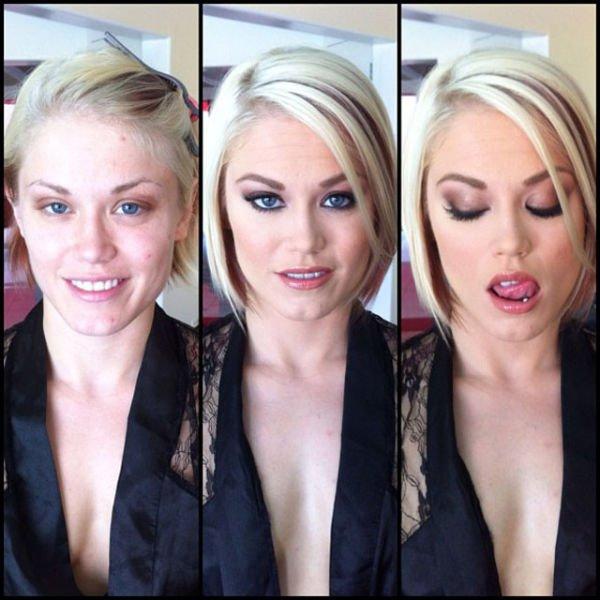 Atrizes porno antes e depois da maquiagem (80)