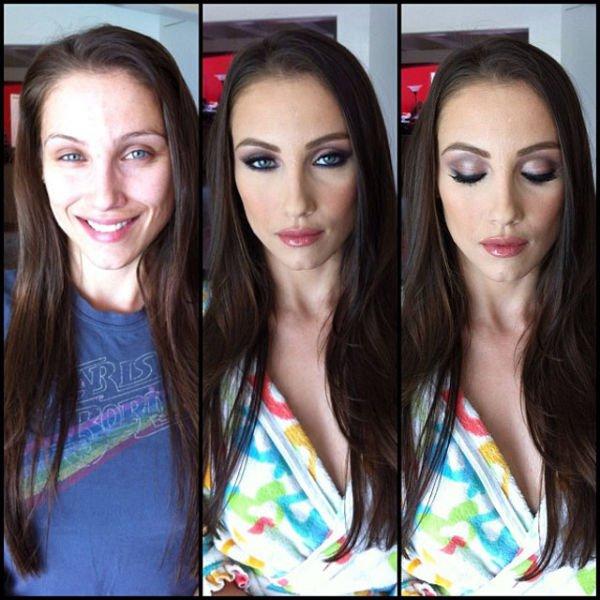 Atrizes porno antes e depois da maquiagem (81)
