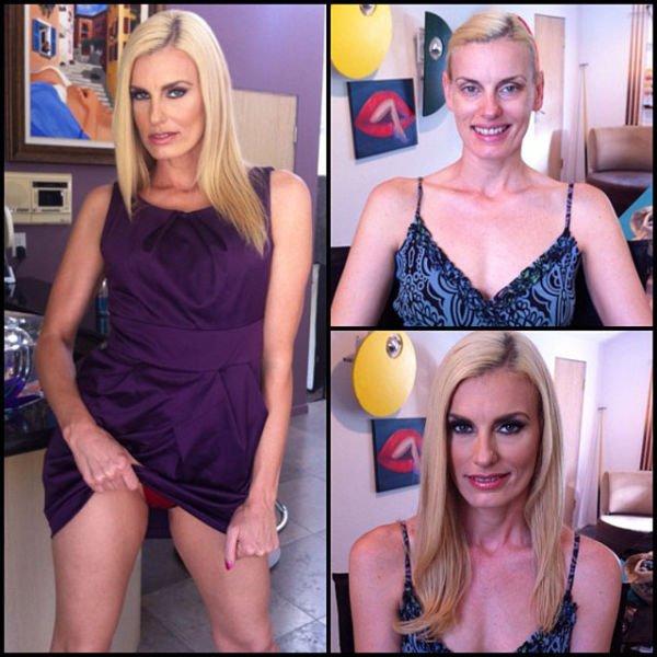 Atrizes porno antes e depois da maquiagem (84)