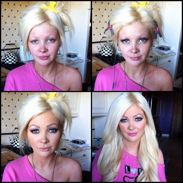 Atrizes porno antes e depois da maquiagem (85)