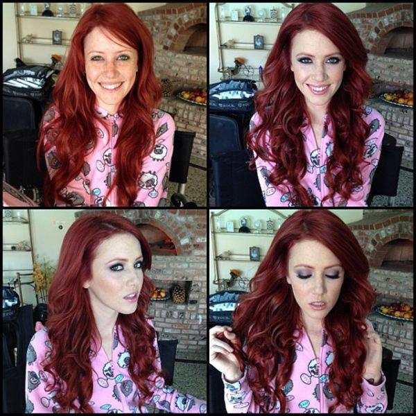 Atrizes porno antes e depois da maquiagem (9)