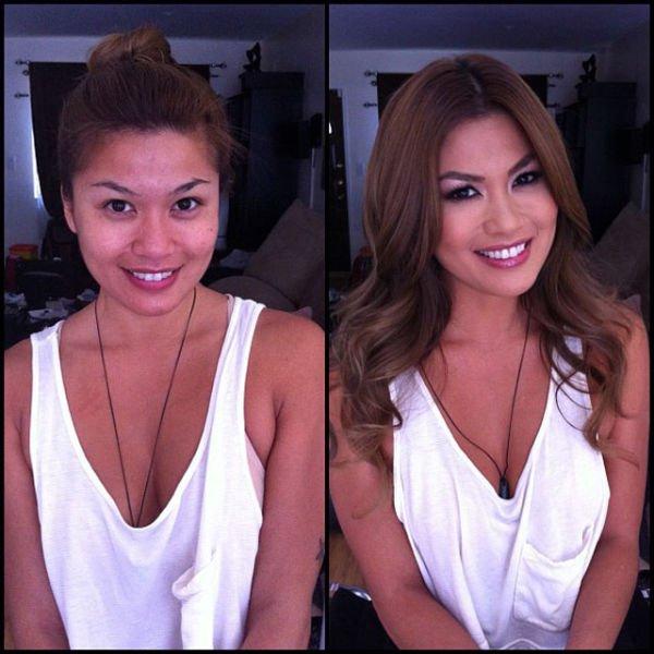 Atrizes porno antes e depois da maquiagem (90)