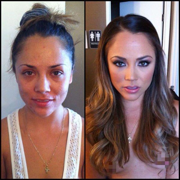 Atrizes porno antes e depois da maquiagem (92)