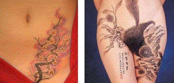 Tatuagens femininas desenhadas em lugares íntimos (18)