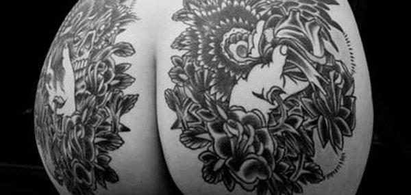 Tatuagens femininas desenhadas em lugares íntimos (43)