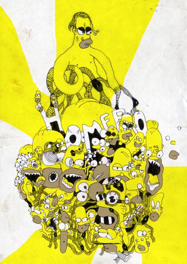 Desenhando o Homer