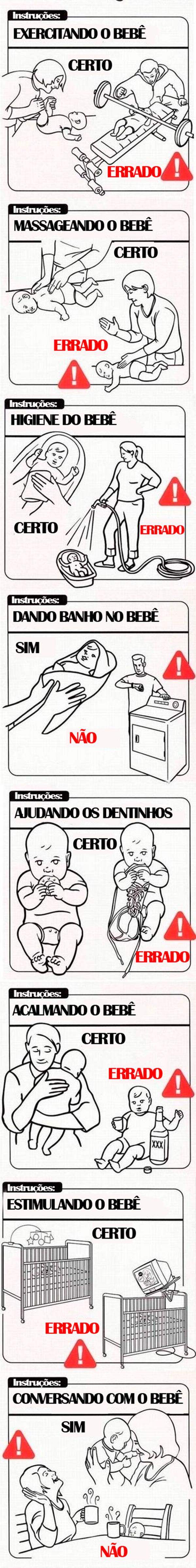 Cuidando de um bebê de maneira correta