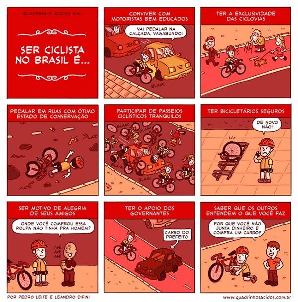 Ser ciclista no Brasil
