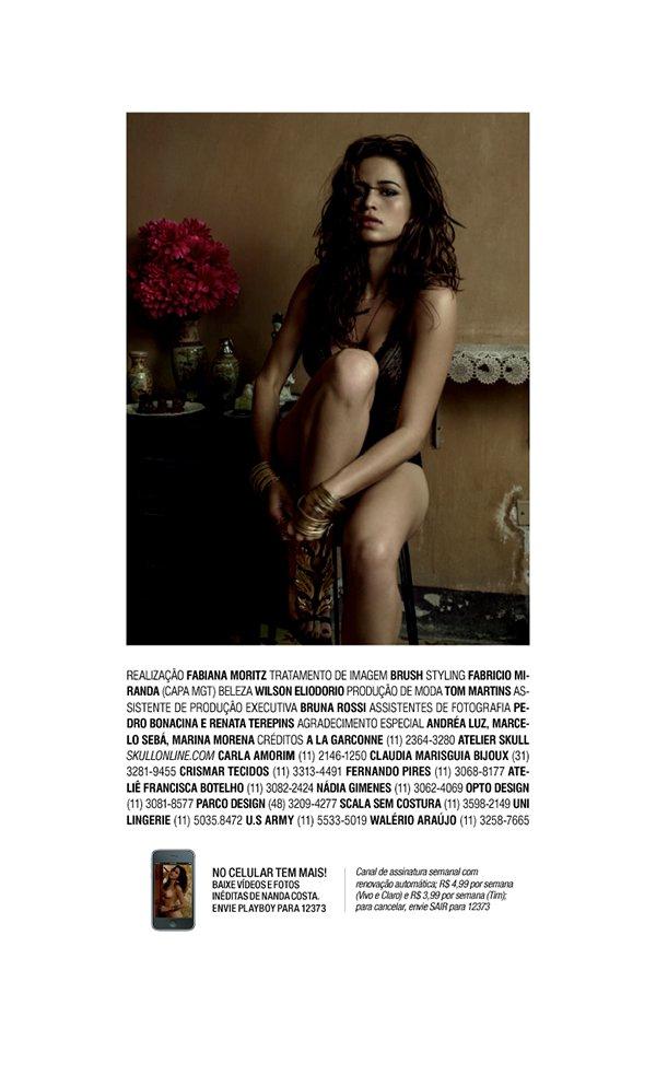 Playboy Nanda Costa Agosto