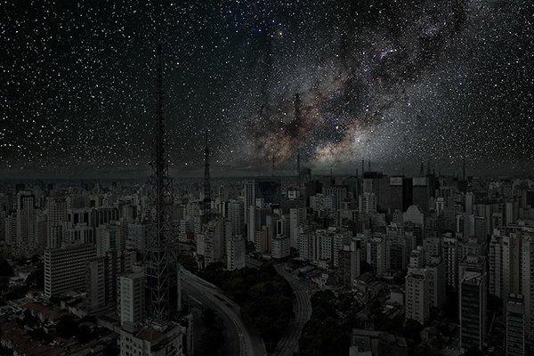 Poluição iluminosa - Sao Paulo