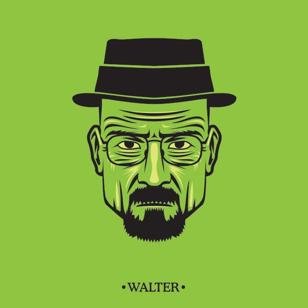 Retrato dos personagens de Breaking Bad