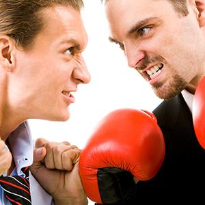 Amigos brigando